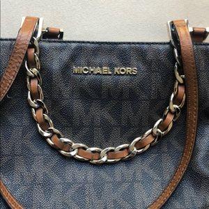 Michael Kors Bags - Michael Kors Signature Tote Bag With Chain Straps